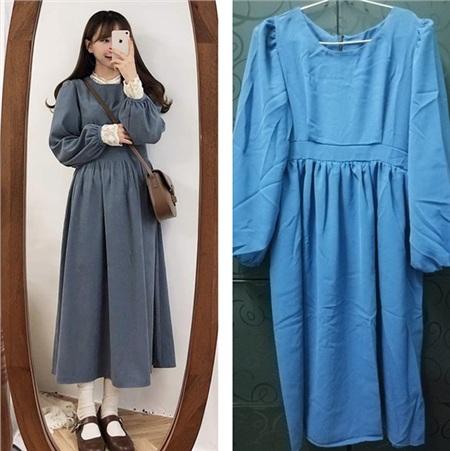 Khi bạn đặt mẫu bên trái thì bỗng nhận được chiếc váy bên phải.