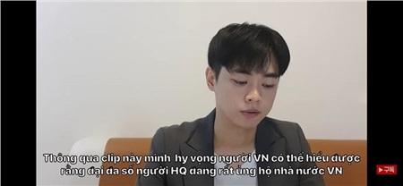 Các YouTuber dẫn chứng về việc cộng đồng mạng Hàn Quốc vẫn rất ủng hộ chính phủ Việt trong cách hành xử