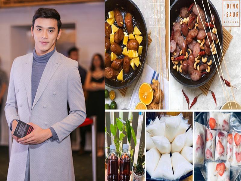 Nam diễn viên Thuận Nguyễn cùng tập tành kinh doanh online mùa dịch với những món ăn tráng miệng vô cùng bắt mắt