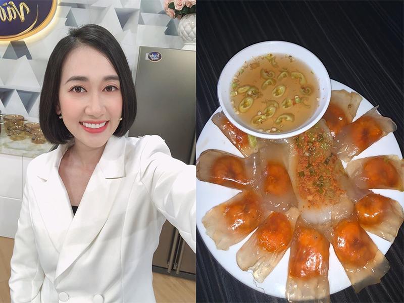 Diễn viên Phương Lan cũng trổ tài nấu nướng các món ăn như bánh bèo, bánh nậm để bán online cho khách