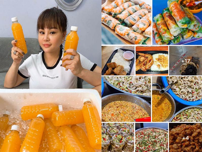 Nghệ sĩ hài Lê Giang 'tất bật' với công việc bán hàng online khi chế biến rất nhiều món từ thức uống đến đồ ăn vô cùng phong phú