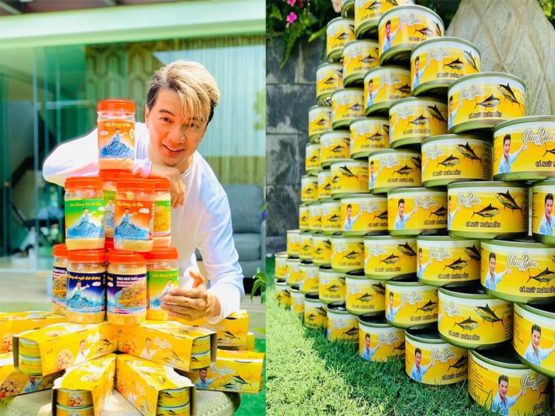 Từ trước và sau dịch, nam ca sĩ Đàm Vĩnh Hưng luôn dùy trì việc kinh doanh online mặt hàng 'cá ngừ Vua Biển' do chính mình đứng tên