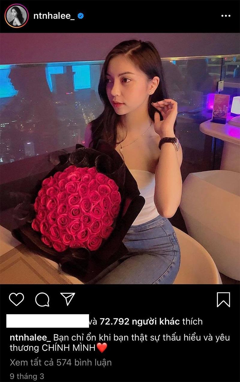 2 bóhoa Quang Hải tặng hotgirl này và Nhật Lê trong cùng dịp 8/3 y hệt nhau, chỉ khác màu