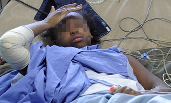 Cô békỳ diệu sống sót nhờ bám vào mảnh vỡ máy bay và ngâm mình suốt 9 tiếng trong nước biển mà không hề có áo phao.Ảnh: Dantri.com.vn