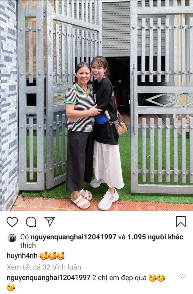 Huỳnh Anh thân thiết với mẹ Quang Hải