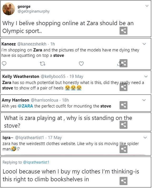 Dân tình khó mà chọn được đồ khi nhìn loạt ảnh tạo dáng 'quằn quại' của người mẫu quảng cáo Zara 9