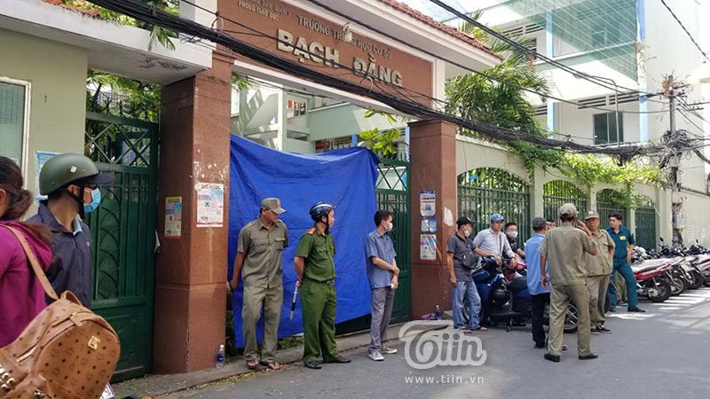 Trường THCS Bạch Đằng - nơi xảy ra vụ tai nạn thương tâm