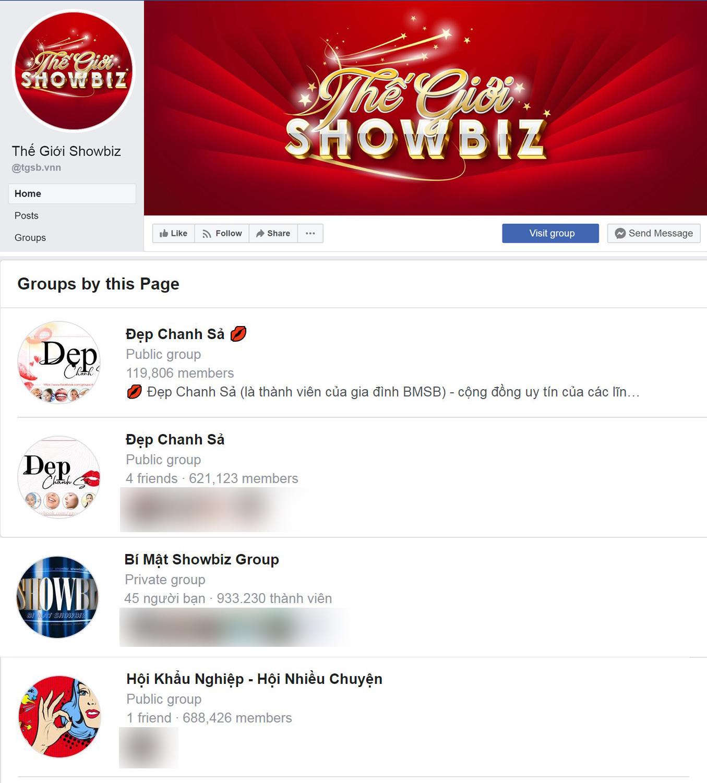 """Fanpage Thế Giới Showbiz còn sở hữu hàng loạt cộng đồng dành cho giới trẻ Việt """"chất"""" nhất hiện nay."""