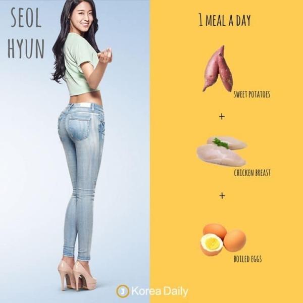 Seolhyun từng có 1 thời bị công ty ép phải giảm cân vì thân hình mũm mĩm hơn chuẩn của người Hàn. Cô bước vào chế độ ăn kiêng cực kỳ khủng khiếp, ảnh hưởng đến sức khỏe không ít nhưng cũng mang lại kết quả nhanh chóng. 1 ngày, Seolhyun chỉ ăn khoai lang, ức gà và trứng luộc, liên tiếp trong thời gian dài để ép cân. Mặc dù đã giảm cân thành công, nhưng Seolhyun không hề khuyến khích các nàng theo đuổi chế độ ăn quá ghê gớm này.