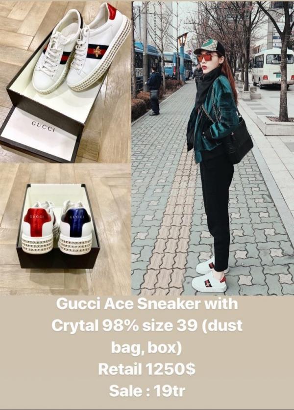 Lần khác bán giày sneaker của Gucci từ 29 triệu còn 19 triệu VNĐ.