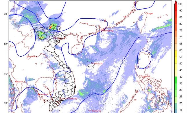 Hôm nay (28/5), miền Bắc mưa dông cả ngày lẫn đêm 0