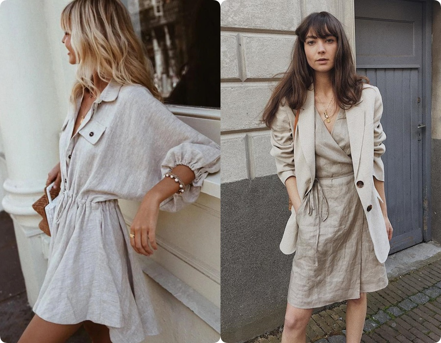 Chính bởi chất liệu mộc mạc tự nhiên này mà những thiết kế váy vải linen luôn mang lại cảm giác mát lành tinh khiết mà cũng không kém phần cá tính phóng khoáng cho người mặc.