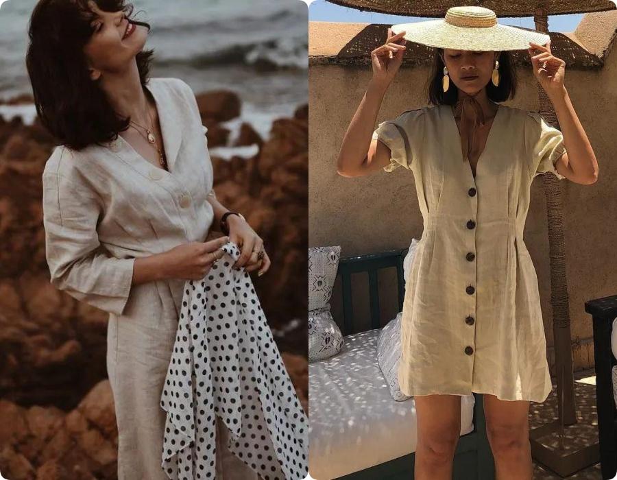 Ngoài váy lụa, phụ nữ Pháp còn mê mẩn váy áo thô đũi mộc mạc, dung dị mà phóng khoáng 2