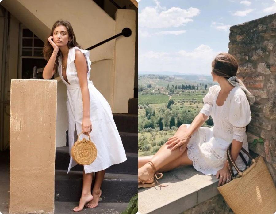 Ngoài váy lụa, phụ nữ Pháp còn mê mẩn váy áo thô đũi mộc mạc, dung dị mà phóng khoáng 6