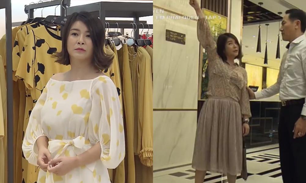 Cũng vì kiểu tóc khó cảm này mà dù Kim Oanh có ăn vận chỉn chu, cầu kỳ ra sao thì trông cô cũng khá xuề xòa, luộm thuộm. Đôi khi cô còn chọn nhầm những bộ cánh dáng suông rộng, màu sắc nhạt nhòa khiến tổng thể trông càng thêm phần nhợt nhạt, thiếu thu hút.