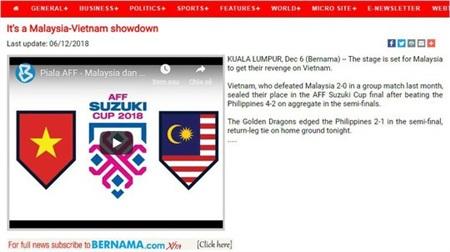 Báo Malaysia buông lời thách thức tuyển Việt Nam 1