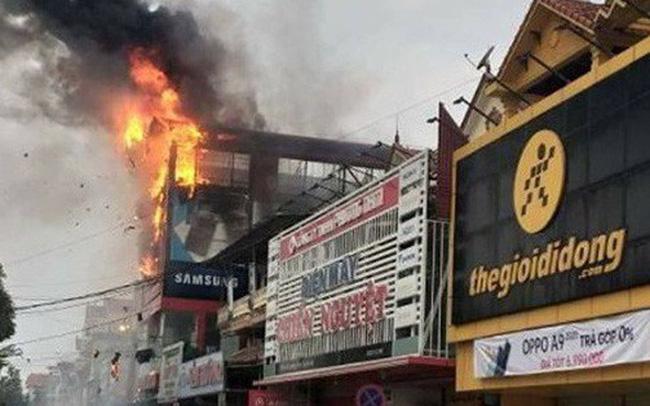 Cháy lớn ở siêu thị điện máy Dũng Loan, gây thiệt hại lớn 0