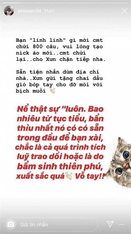 Bạn gái Lâm Tây mỉa mai đáp trả anti-fan chửi cô tục tĩu