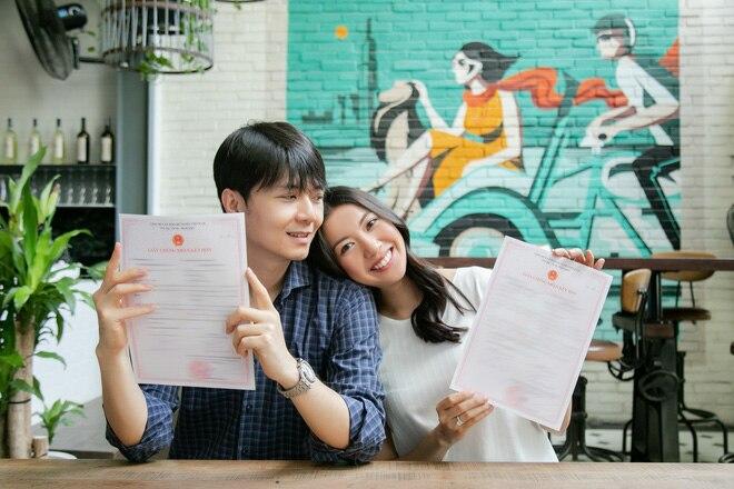 Thuý Vân đi đăng kí kết hôn: 'Từ giờ, tôi chính thức là người đã có gia đình' 2