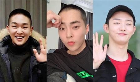 Ba anh chàng Onew, Xiumin, Jisung trước ngày nhập ngũ.
