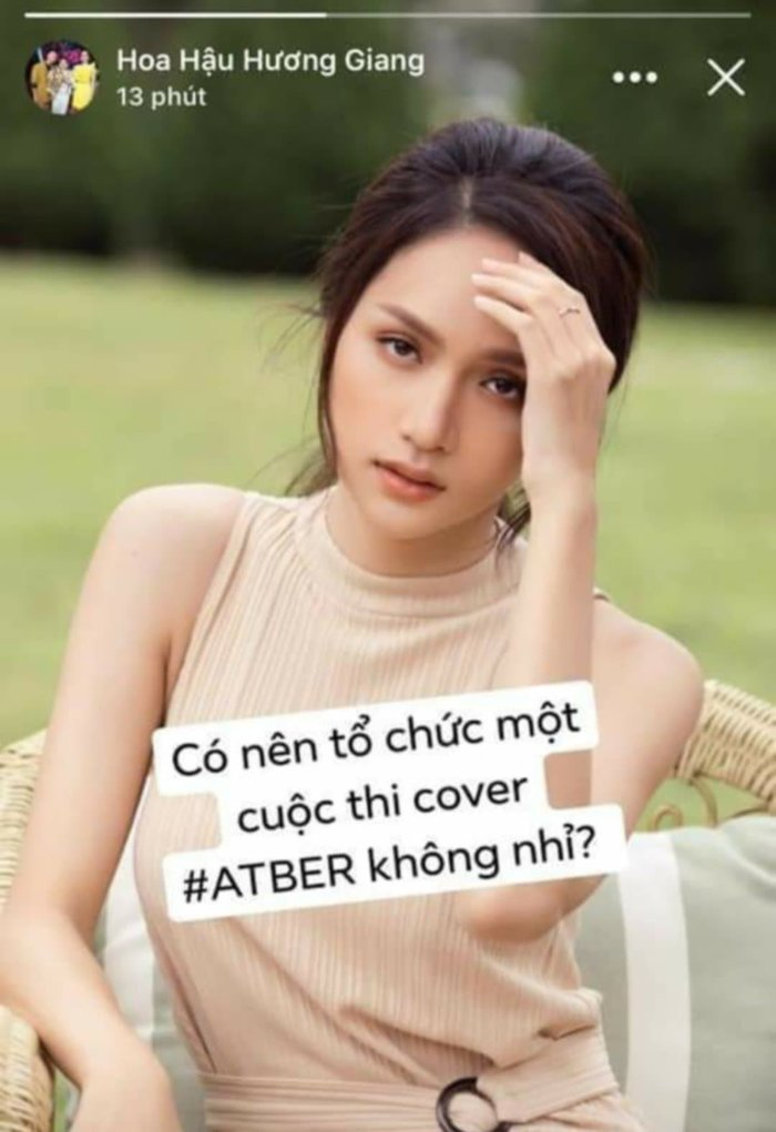 Hương Giang đang cân nhắc tổ chức một cuộc thi cover #ATBER.