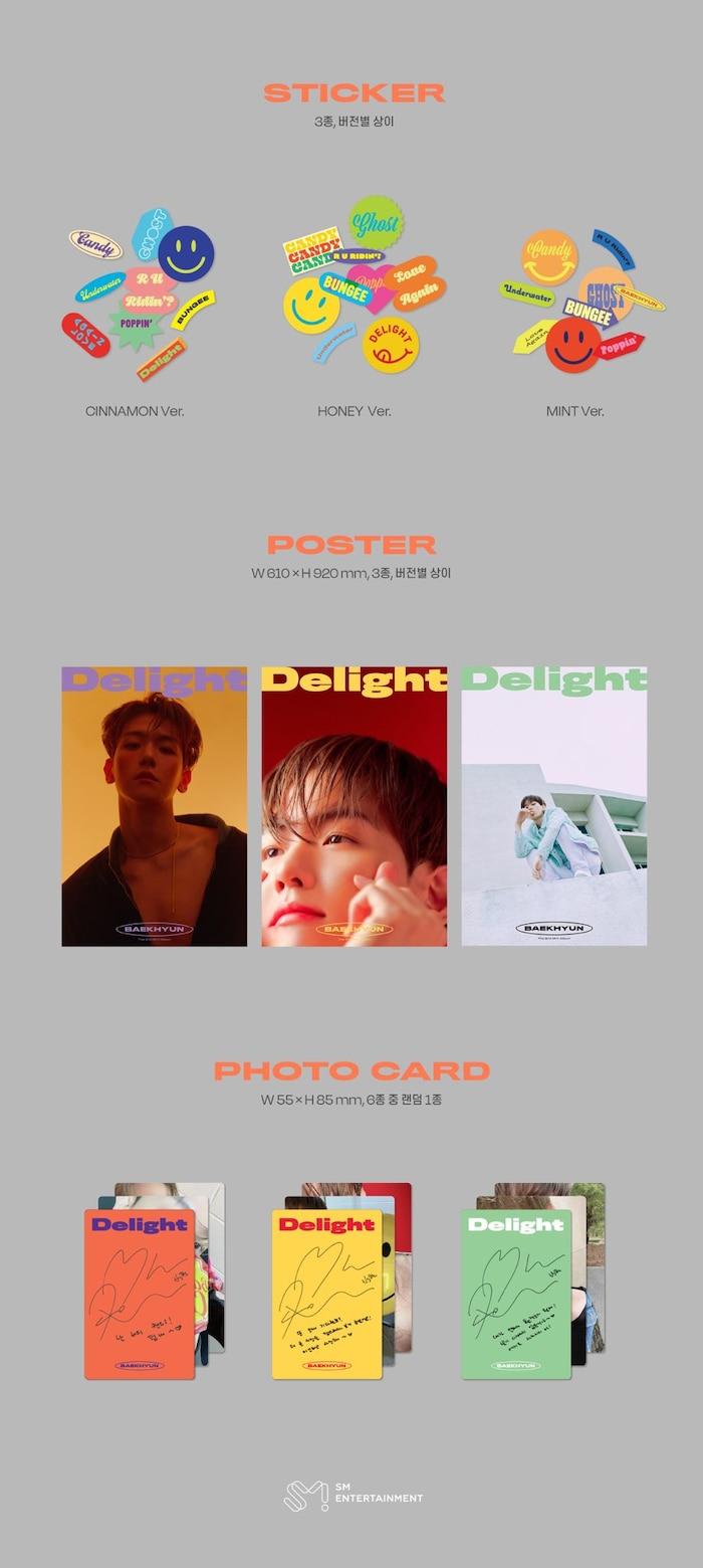 Chi tiết album Delight của Baekhyun.
