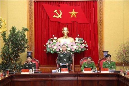 Bộ trưởng Tô Lâm phát biểu tại hội nghị. Ảnh: BCA
