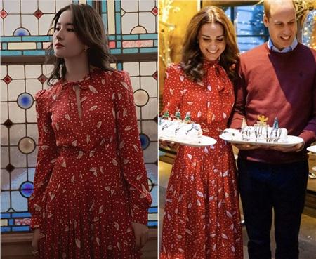 Cùng 1 mẫu váy: Lưu Diệc Phi đẹp như nữ nhân Hoàng gia, Công nương Kate sửa váy tinh tế để tránh sexy 7