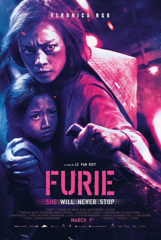 Poster chính thức của Furie - Hai Phượng tại Mĩ.