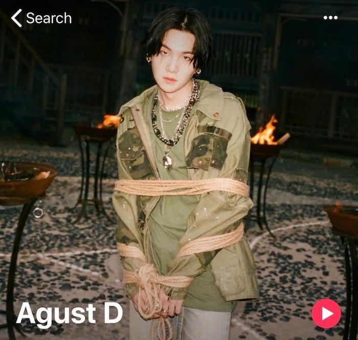 Hình ảnh profile của Suga trên một trang âm nhạc nổi tiếng toàn cầu đã thay đổi.