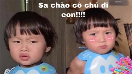 Câu nói huyền thoại của Quỳnh Trần JP 'Sa chào cô chú đi con' cũng trở thành 'hot trend' trên mạng xã hội.