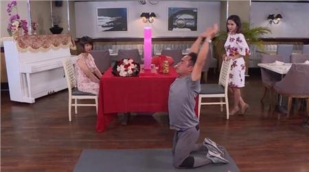 Anh Hoàng Nguyễn có phần thể hiện sở trường với cô gái trong chương trình