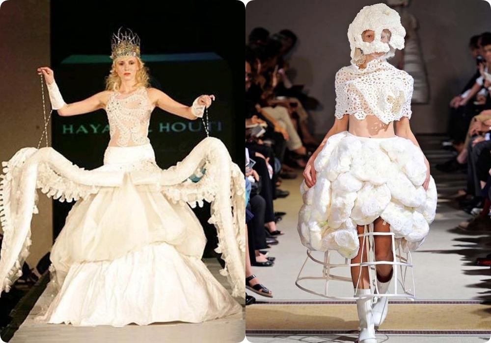 Váy cưới sinh ra để các cô dâu duyên dáng nổi bật trong ngày cưới, nhưng những thiết kế thế này chắc chỉ để 'làm cảnh' thôi.
