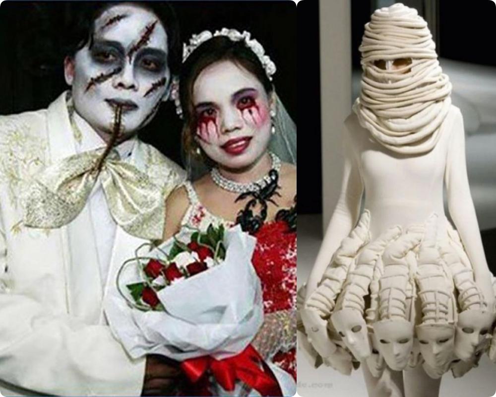 Có những bộ váy cưới mà chỉ nhìn thôi cũng 'lạnh sống lưng' là đây chứ đâu.