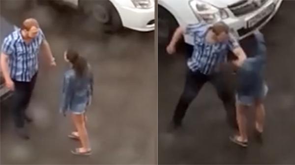 Clip sốc: Dỗ dành ngon ngọt mãi không được, người đàn ông tức giận túm tóc, đánh bạn gái dã man ngay giữa đường