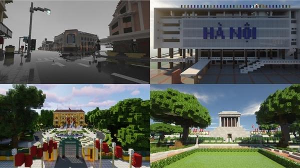 'Du lịch' Hà Nội qua dự án tái hiện công trình kiến trúc, danh lam thắng cảnh của nhóm game thủ Việt
