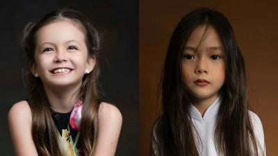 2 tiểu mỹ nhân tương lai của nhà Hồng Nhung và Đoan Trang: Còn nhỏ tuổi nhưng đã hớp hồn người bởi nét đẹp pha trộn của hai dòng máu