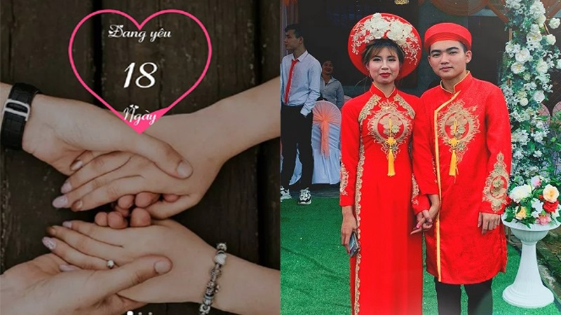 Choáng: Cặp đôi 2k đăng kí kết hôn chỉ sau 18 ngày hẹn hò, hôm đầu lên nhà bạn gái chàng trai đã xin hỏi cưới