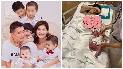 'Hoa hậu đông con nhất showbiz Việt' hạ sinh con trai thứ 6 cho chồng đại gia