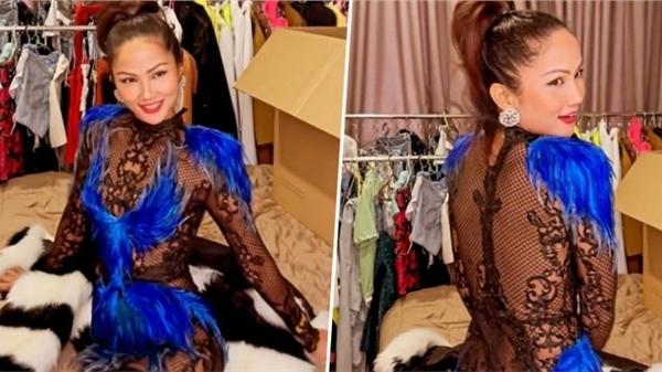 H'Hen Niê khoe váy cũ hồi Miss Universe 2018, đằng sau xuyên thấu vòng 3 nhìn mà giật mình