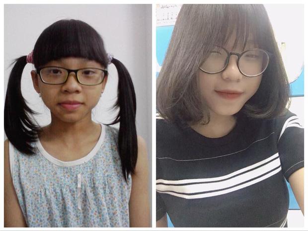 Từ một cô bé đen nhẻm, Yến Trang đã 'lột xác' thành nữ sinh xinh đẹp.