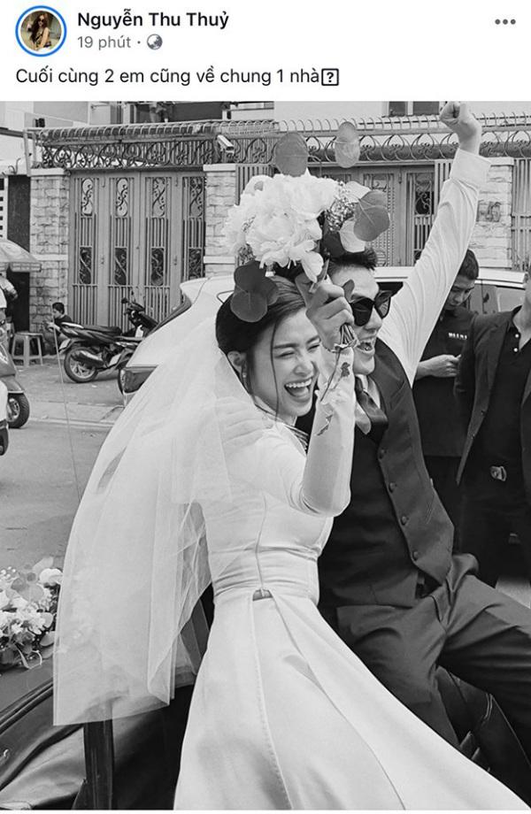 Thu Thủy cũng vui mừng gửi lời nhắn về đám cưới của Đông Nhi - Ông Cao Thắng.