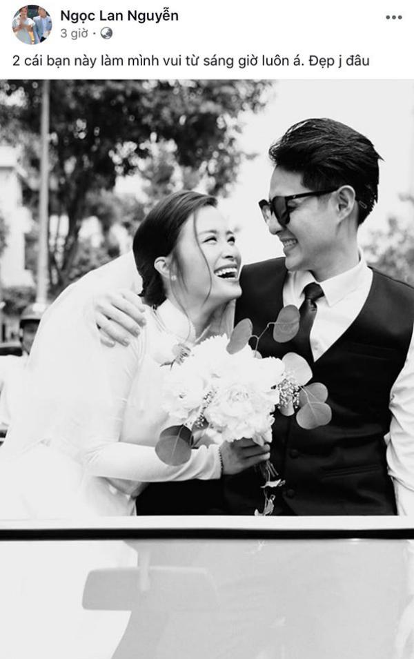 Giống như chia sẻ của Phạm Quỳnh Anh, đám cưới được mong chờ nhất VBiz này cũng khiến cô cảm thấy vui lây, quên hết mọi buồn phiền.