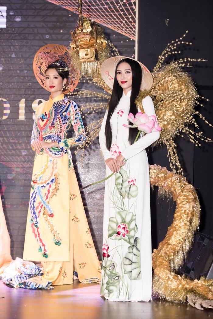 Lương Thuỳ Linh, Tường San cùng dàn mỹ nhân Việt 'kết' năm bằng màn trình diễn quốc phục ấn tượng 5