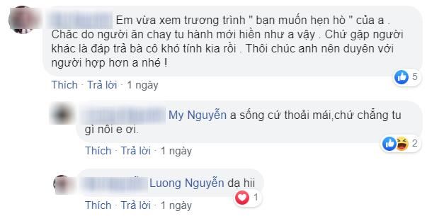 Hoàng Nguyễn trả lời bạn bè với thái độ rất tích cực
