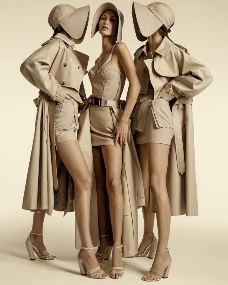 Gigi và Bella Hadid tái ngộ Kendall Jenner trong chiến dịch Xuân Hè 2020 của Burberry 1