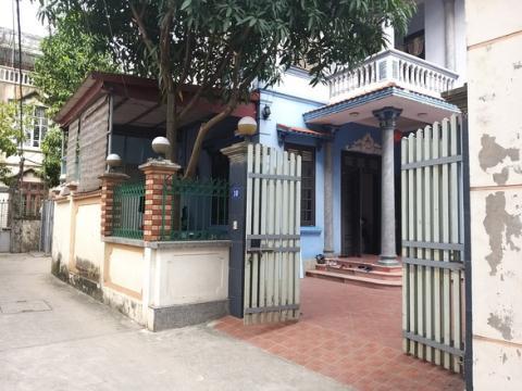 Ngôi nhà số 10 nơi đặt trụ sở doanh nghiệp 144.000 tỷ đồng tại thôn Lai Xá, xã Kim Chung, huyện Hoài Đức, TP.Hà Nội - Ảnh: Tuổi trẻ