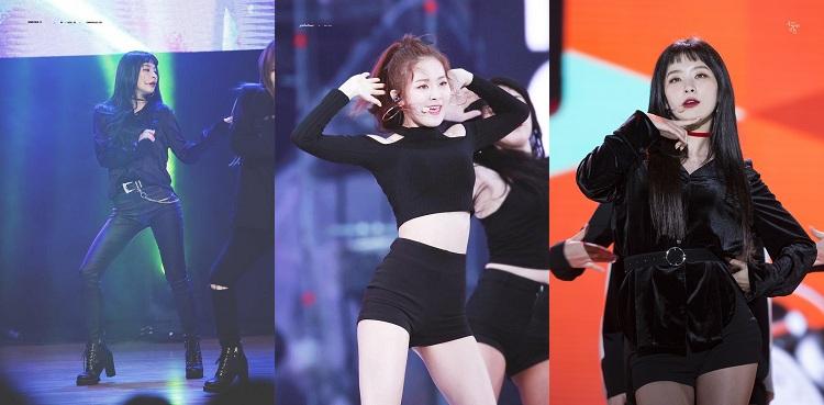 Vốn sở hữu style 'girl crush' cá tính, mạnh mẽ, chính vì vậy, những set đồ 'all black' trong bộ sưu tập 'khổng lồ' của Seulgi càng tôn lên vẻ phóng khoáng, bí ẩn bên trong cô. Thành viên Red Velvet còn có khả năng biến hóa đa dạng phong cách, trang phục. Khi thì váy, lúc là một combo áo quần sành điệu, sexy, gợi cảm có, nữ tính hay nhẹ nhàng cũng có, và lúc nào cô cũng khiến mọi người phải 'đê mê' khi diện đồ đen.