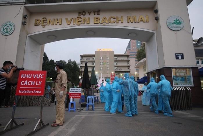 Đến khám ở khoa Dị ứng - BV Bạch Mai, người đàn ông ở huyện Mê Linh xét nghiệm dương tính Covid-19 sau 24 ngày 1