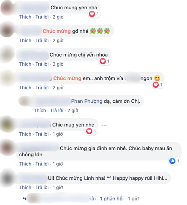 Rất nhiều những lời chúc mừng được gửi tới gia đình Hoa hậu Oanh Yến